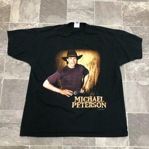Men's vintage 90s Michael Peterson concert t shirt
